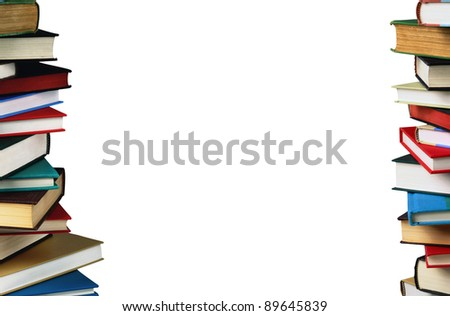 Stack of books. education concept
