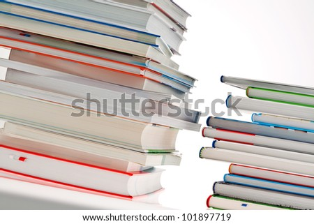 stack of books. isolated and isolated against a white background