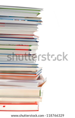 stack of books. isolated and isolated against white background