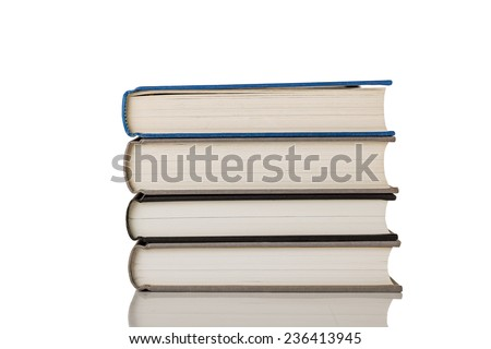 Stack of Books Isolated on a White Background.  - stock photo