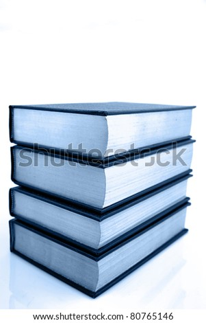 Stack of books isolated on white