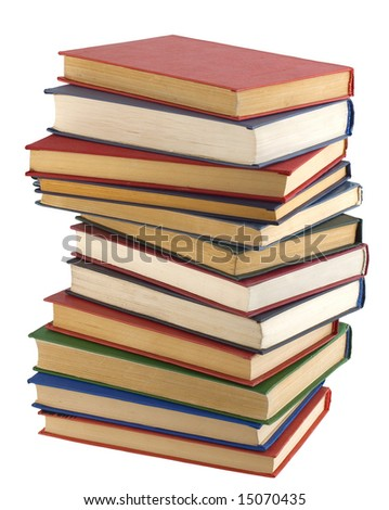 Stack of books (With Clipping Path)
