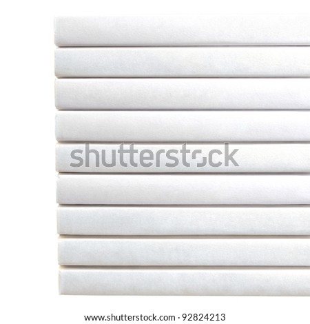 Stack of Books with White Background - stock photo