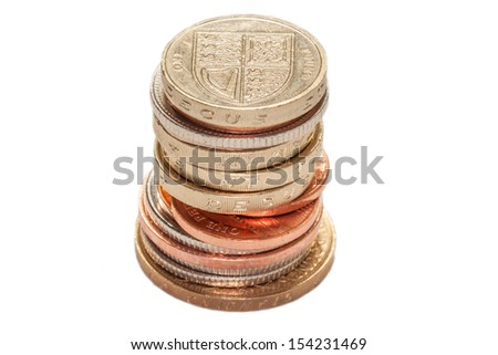 Stack of British Coins