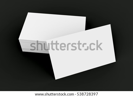 Stack business card template blank unfilled stock illustration stack of business card template blank unfilled card for edited isolated on black background wajeb Gallery