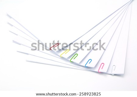 Stack of business papers isolated with white - stock photo