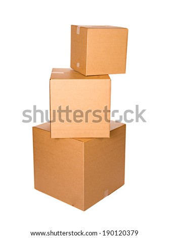 Stack Of Cardboard Shipping Boxes