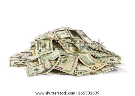 stack of cash - stock photo