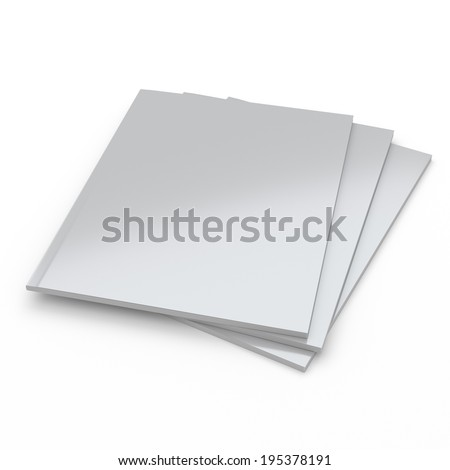 Stack of catalogs or magazines in perspective. A4 size - stock photo