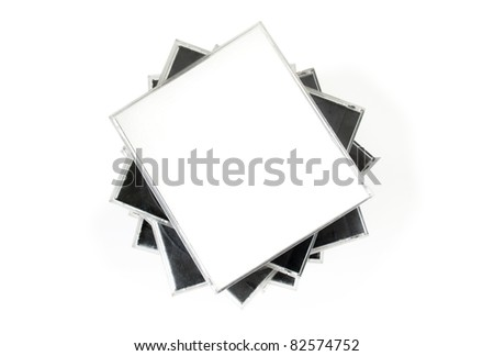 Stack of cd cases isolated - stock photo