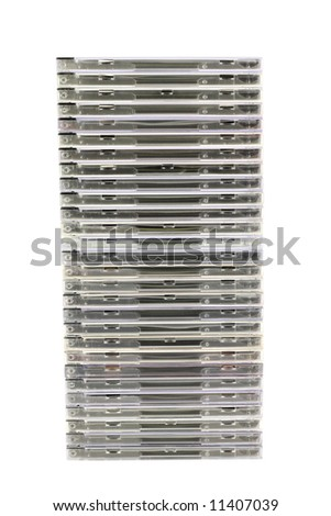 Stack of cd's - stock photo