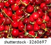 Stack of cherry - stock photo