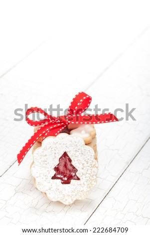Stack of Christmas cookies  - stock photo