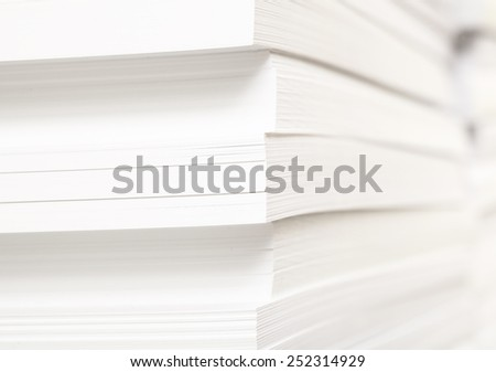 Stack of clean sheets for typographical printing - stock photo