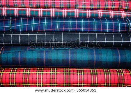 stack of clothing isolated - stock photo