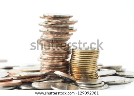 Stack of coins - stock photo
