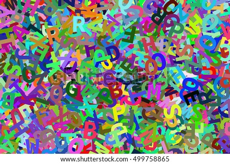 Stack of colorful alphabets letters from A to Z for education or learning conceptual