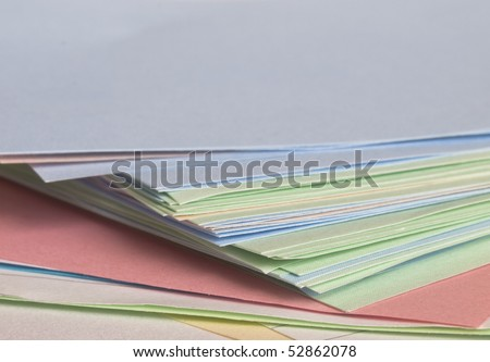 stack of colorful plain paper - stock photo