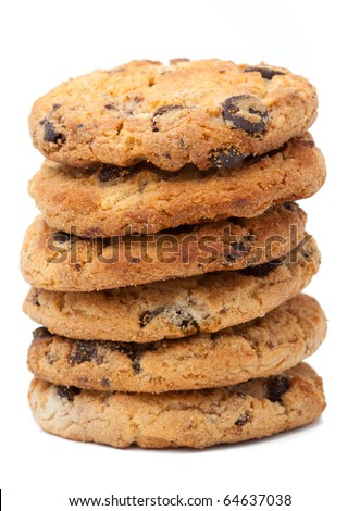 Stack of cookies isolated - stock photo