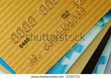 Stack of Credit Cards. - stock photo