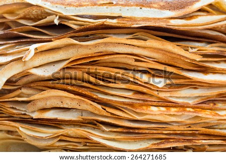 stack of crepes - stock photo