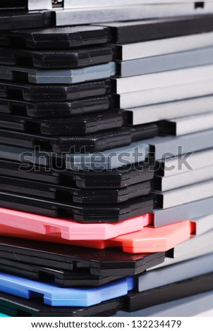 stack of diskettes - stock photo