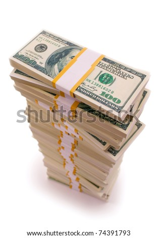 Stack of Dollar Bills - stock photo