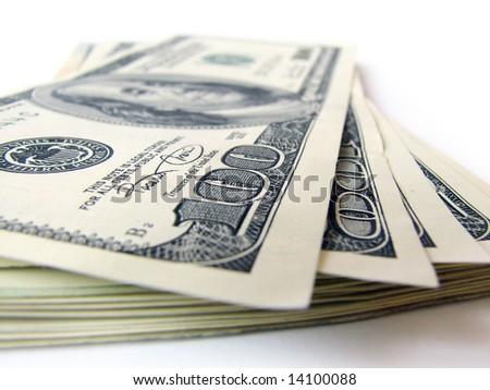 stack of dollars bills - stock photo