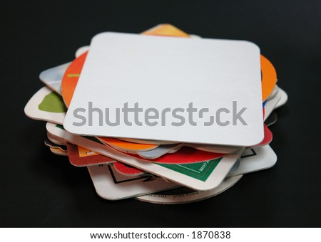 stack of drink coasters - stock photo