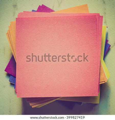 stack of empty notes paper - stock photo