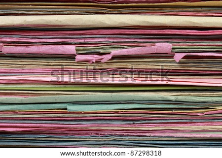 Stack of  file folder close up for background - stock photo