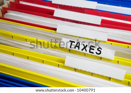 Stack of file folders - stock photo