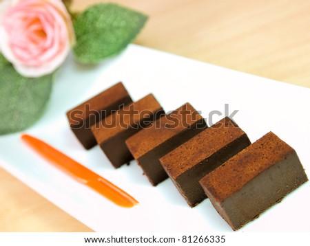 Stack of fresh homemade chocolate - stock photo