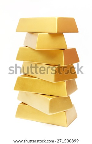Stack of gold - stock photo