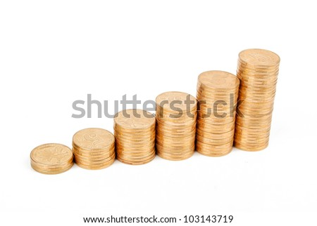 Stack of golden coin