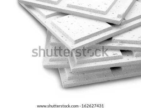 stack of gypsum board - stock photo