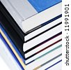 Stack of hard-cover books - stock photo