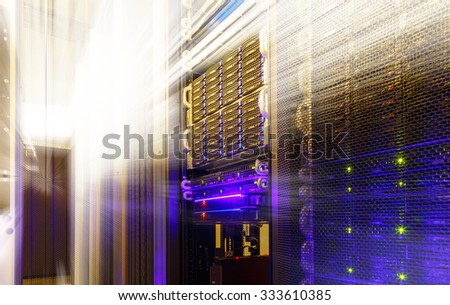 stack of hard drives store mainframe - stock photo
