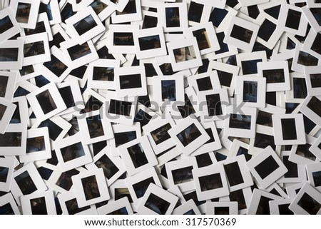 stack of hundreds of photo slides of varius kinds - stock photo
