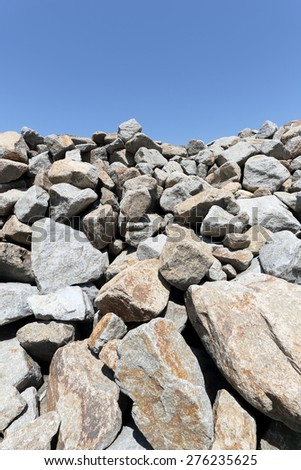 stack of limestone for building  - stock photo