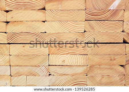 Stack of Lumber - stock photo
