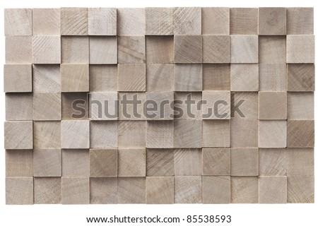 stack of lumber - stock photo