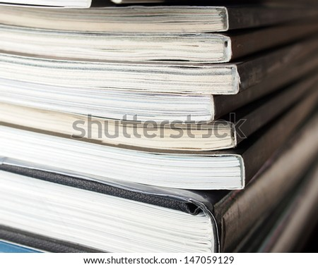 Stack of magazine books