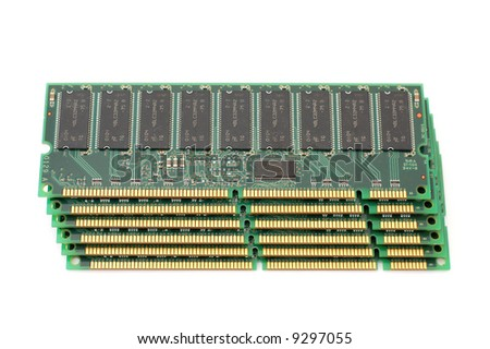stack of memory chip of computer