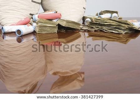 Stack of money - stock photo