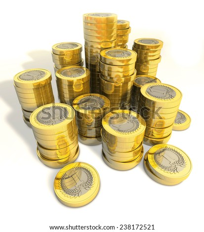 stack of money coins - stock photo