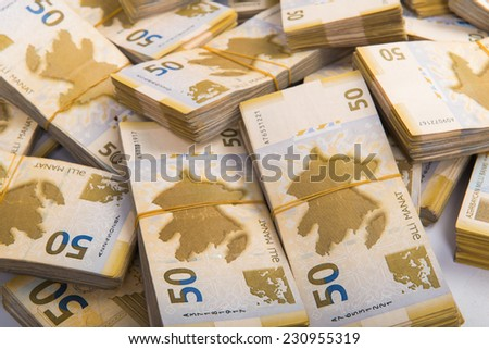 Stack of money in business concept - stock photo