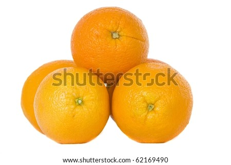 Stack of naval oranges - stock photo