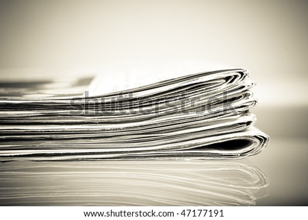 stack of newspapers - monochrome vintage