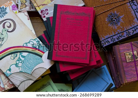 Stack of Notebooks - stock photo